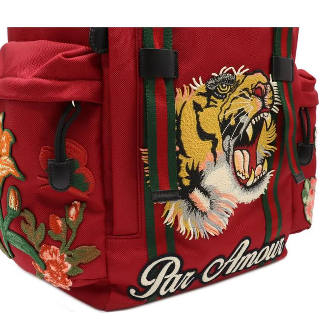 Gucci Embroidered Tiger Rucksack Techno Canvas 429037 Multi-color / Red Color Leather Backpack Gucci Embroidered Tiger Rucksack Techno Canvas 429037 Multi-color / Red Color Leather Backpack Image 9
