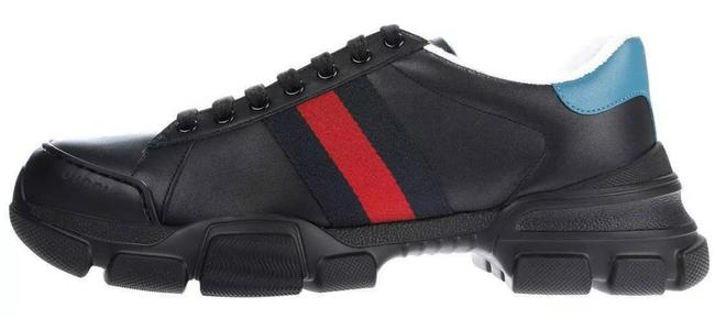 Item - Black with Blue Red Web New Current Chunky Sole Leather Detail Men's 8/Us Sneakers Size US 8.5 Regular (M, B)