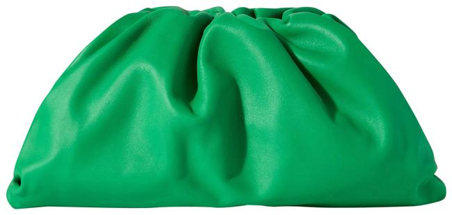 Item - The Pouch Large Green Gathered Leather Clutch