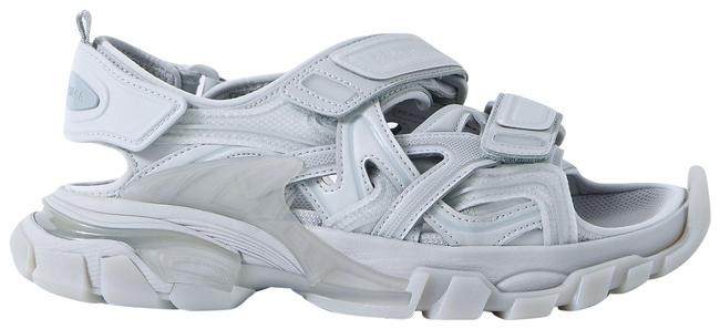 Item - Grey Track Logo-detailed Leather and Rubber Sandals Size EU 38 (Approx. US 8) Regular (M, B)