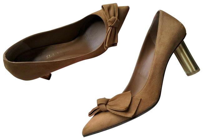 Item - Brown Bow Pointed Toe Suede Heels Pumps Size US 8.5 Regular (M, B)