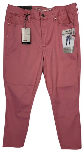 Item - Pink Rise Ankle Skinny Jeans Size 35 (14, L)