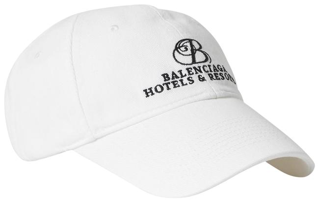 Item - White Embroidered Cotton-twill Baseball Cap Hat