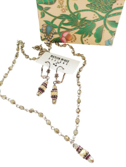 Other Marion Mckee Fashion Sterling Crystal Earring and Necklace Set
