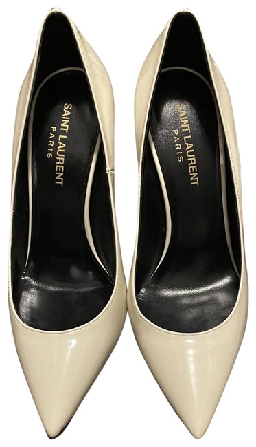 Item - Cream Off White Opyum In Patent Leather with Black Heel Pumps Size US 7 Regular (M, B)
