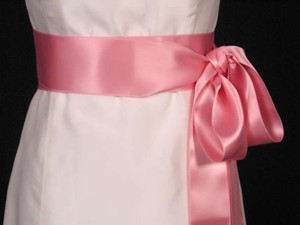 Dusty Rose Pink Ribbon Sash 2 3/4