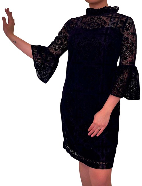 Item - Black Long Sleeve Mid-length Night Out Dress Size 4 (S)