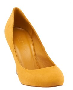 Suede Yellow Pumps