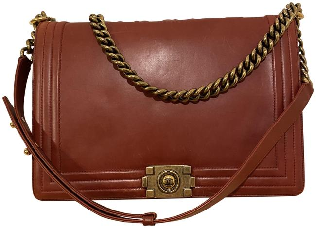 Item - Classic Flap Red Leather Cross Body Bag