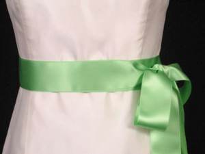 Apple Green Ribbon Sash 2