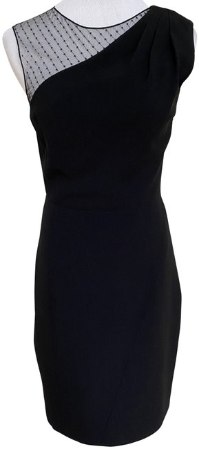 Item - Black Ysl Sequin Sleeveless Pleated Pencil Short Cocktail Dress Size 4 (S)