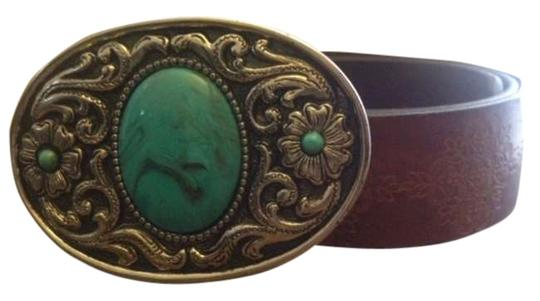 Vintage Turquoise and leather western style