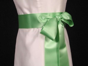 Apple Green Ribbon Sash 2 3/4