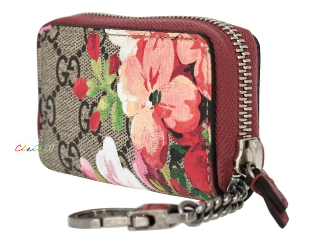Item - Beige/ Ebony/ Dry Rose Gg Supreme Blooms Coin Purse Wallet