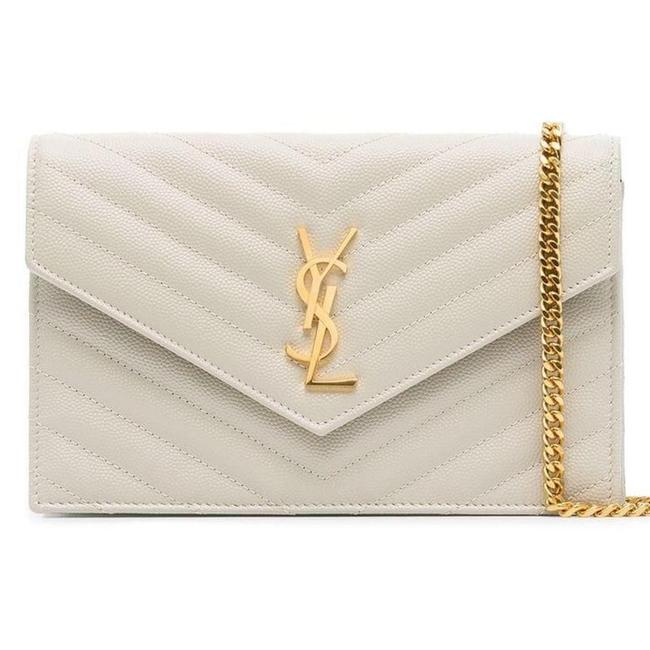 Item - Crossbody New Quilted Ysl Purse Off White Leather Shoulder Bag