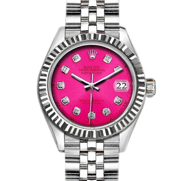 Item - Pink 36mm Datejust with Diamond Dial Watch