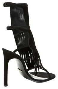 Gucci Women Fringe Size 6 Women Heels Fringes black Sandals
