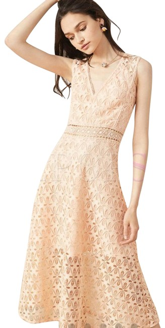 Item - Pink Nwt*sandro Guipure Lace In Rose S Cocktail Dress Size 4 (S)