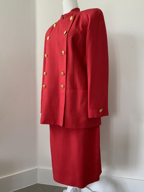 Item - Red Double Breasted Skirt Suit Size 10 (M)