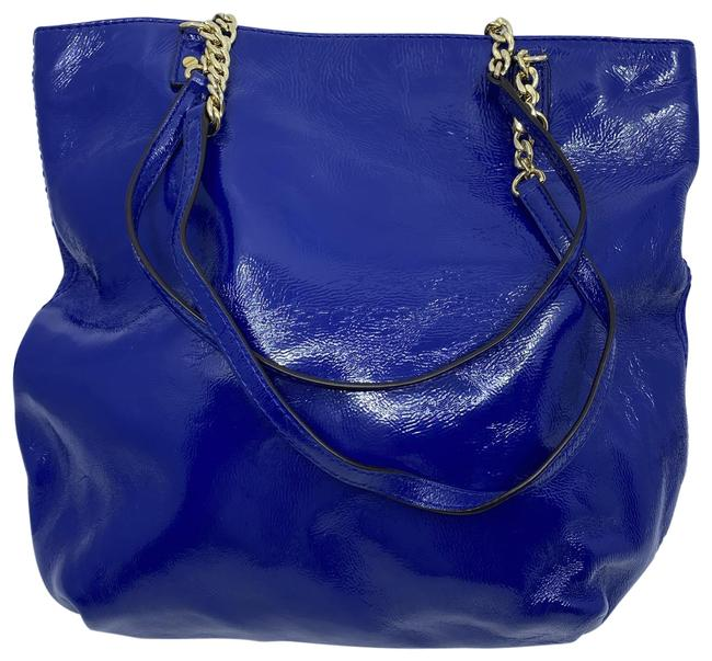 Item - Bag Blue Patent Leather Tote