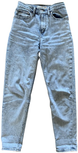 Item - Blue Acid Premium Light High Mom Relaxed Fit Jeans Size 24 (0, XS)