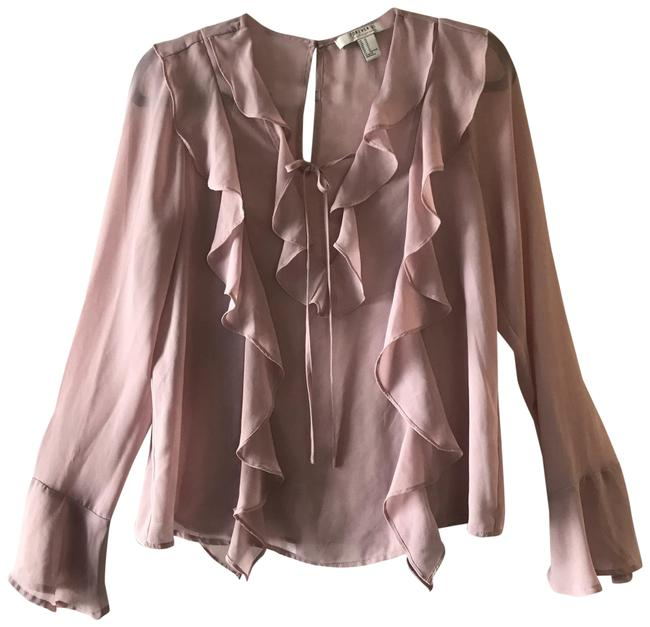 Item - Pink Nude Sheer Blouse Size 8 (M)