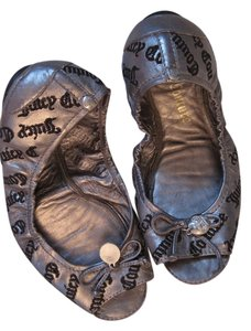 Juicy Couture Gunmetal Flats