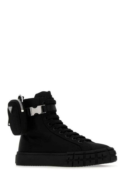 Item - Black Pouch Attached High-top Sneakers Size EU 35 (Approx. US 5) Regular (M, B)