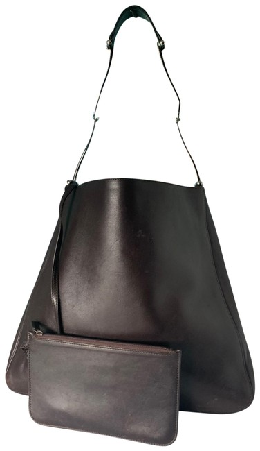 Item - Vintage with Matching Pouch Brown Lambskin Leather Shoulder Bag