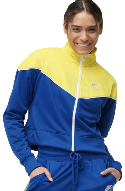Item - Blue/Yellow Women's Heritage Track Style Activewear Outerwear Size 20 (Plus 1x)
