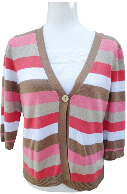 Item - Layered Striped Med Multi Color Sweater