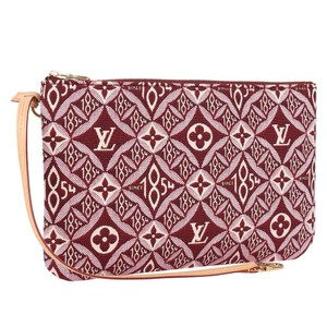 Louis Vuitton Limited Edition Rare Trunk Leather Wristlet in Red