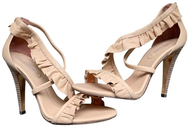 Item - Nude New Ma-makena Frilly Open Toe Sandals Size US 10 Regular (M, B)