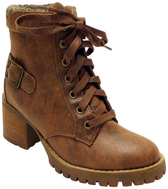 Item - Brown W425 Women's Gibson Buckle Ankle M Boots/Booties Size US 5 Regular (M, B)