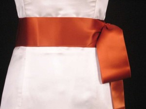 Copper Orange Ribbon Sash 2 3/4