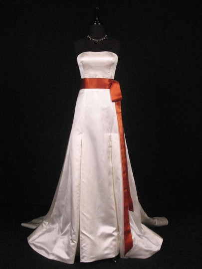 Copper Orange Ribbon Sash