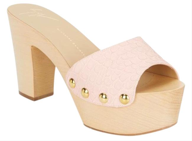 Item - Pink New Croc-embossed Leather 10 Mules/Slides Size EU 40 (Approx. US 10) Regular (M, B)