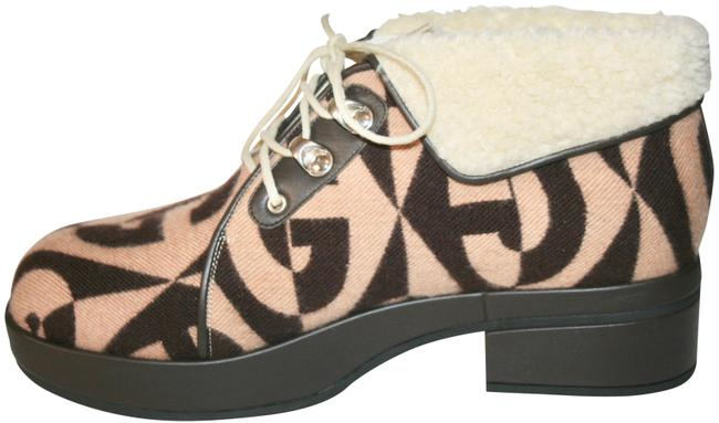 Item - Brown Gg Wool Fur Ankle Boots/Booties Size US 7 Regular (M, B)
