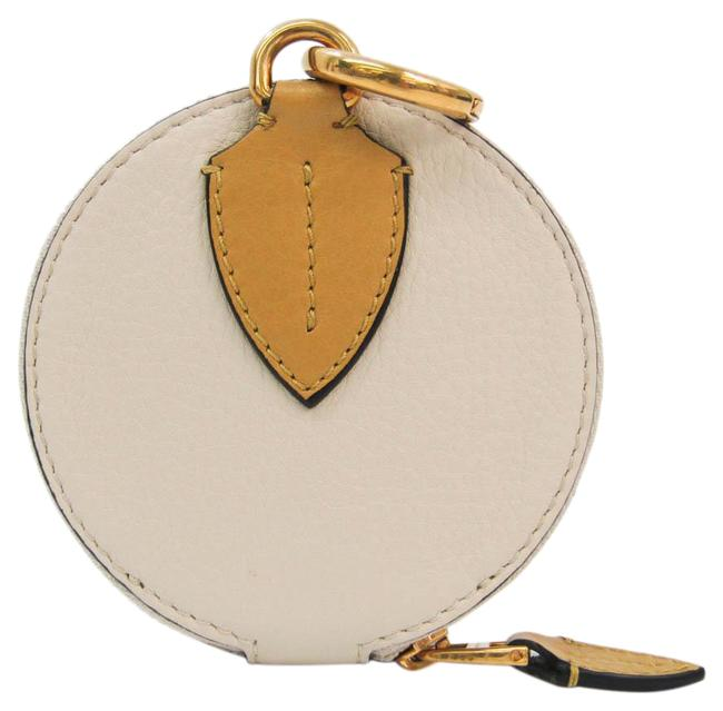 Item - Beige / Light Gray 4075115 Women's Leather Coin Purse/Coin Case Wallet