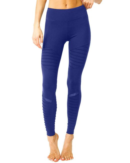 Item - Navy Athletique Low-waisted Ribbed Activewear Bottoms Size 14 (L, 34)