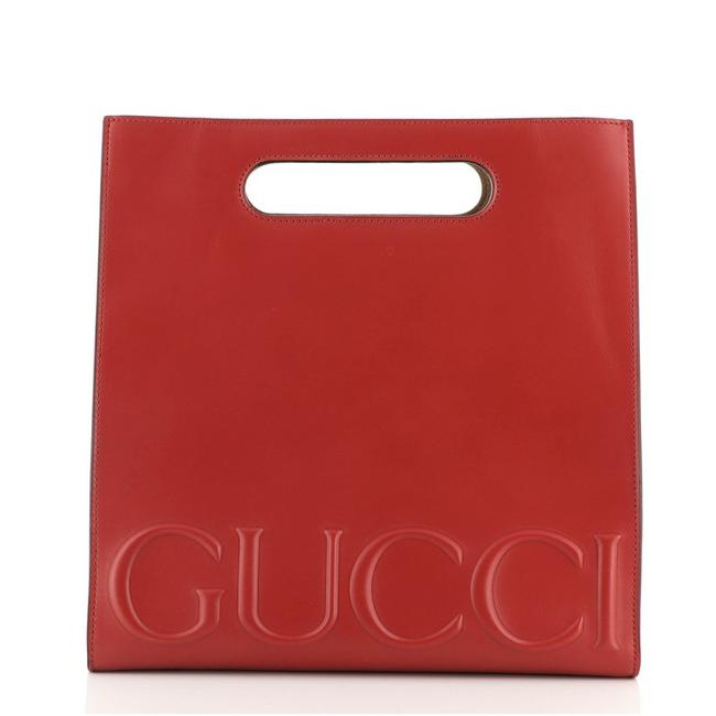 Item - Bag XL Small Red Leather Tote