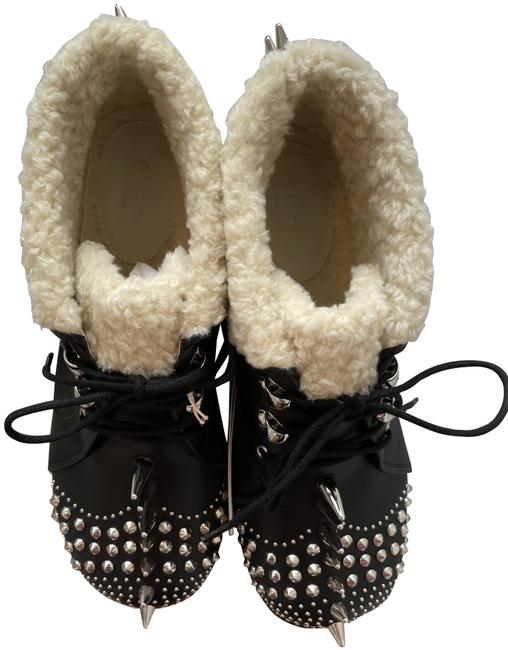 Item - Black Victor Studded Faux Sheng Lined In Boots/Booties Size EU 37.5 (Approx. US 7.5) Regular (M, B)