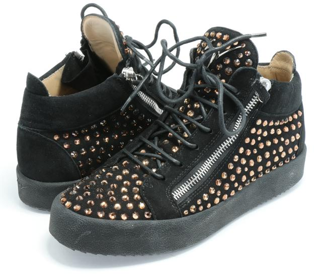 Item - Black Studded High-top Sneakers Shoes