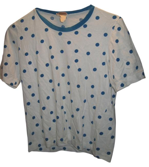 Preload https://item5.tradesy.com/images/courreges-white-and-blue-polkadots-french-t-shirt-paris-tee-shirt-size-0-xs-2920669-0-0.jpg?width=400&height=650