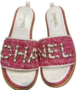 Chanel pink & white Sandals