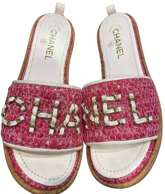 Item - Pink & White 2020-21 Fw Sandals Size EU 39 (Approx. US 9) Narrow (Aa, N)
