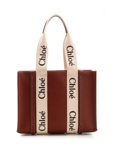Chloé Leather Suede Tote in Brown