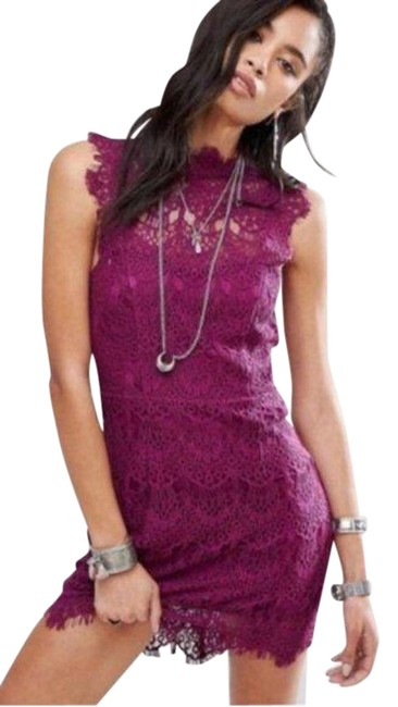 Item - Daydream Magenta Lace Short Cocktail Dress Size 8 (M)