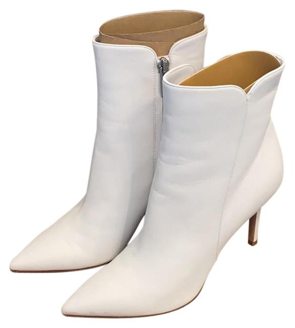 Item - Nappa White Levy Notched Leather 85mm Boots/Booties Size EU 37.5 (Approx. US 7.5) Regular (M, B)