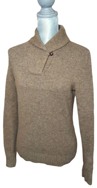 Item - Wool Leather Brown Sweater